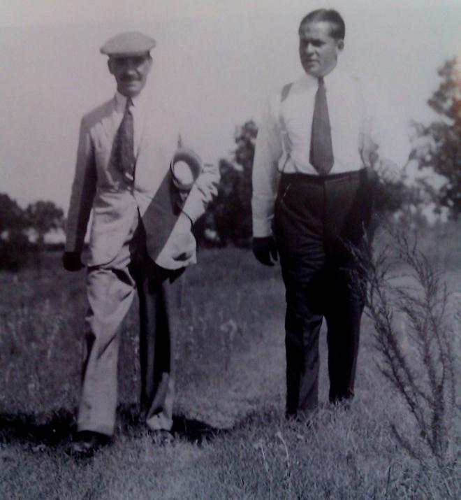 Kongeniales Duo: Bobby Jones (r.), der geistige Vater von Augusta, und sein Baumeister, Dr. Alister MacKenzie.