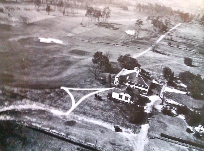 """Augusta National kurz nach seiner Entstehung: """"Es kam mir vor, als habe das Gelände nur auf einen Golfplatz gewartet."""""""
