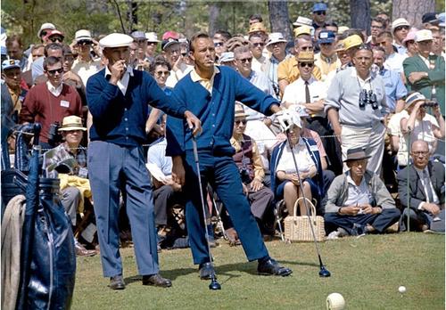 Die größten Golfer ihrer Zeit: Arnold Palmer (r.) wollte Ben Hogan übertrumpfen. © MiB