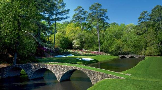 """Kleines Biest """"Golden Bell"""": Augusta Nationals Zwölf war zum Auftakt des 78. Masters das zweitschwerste Loch. ©: mib"""