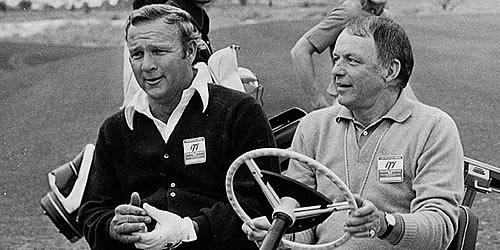Arnold Palmer (hier mit Frank Sinatra): Die PGA Championship nie gewonnen. © MiB