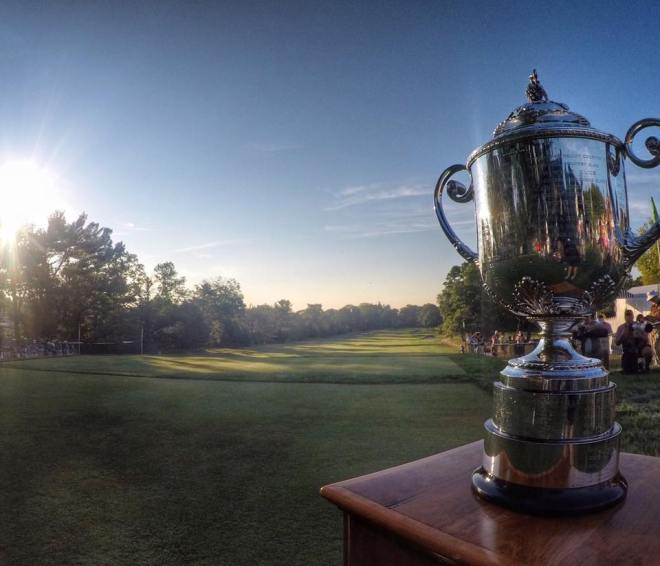 The Wanamaker Trophy at the PGA Championship