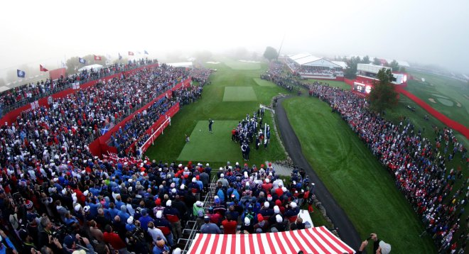 41st Ryder Cup Matches, Tee 1
